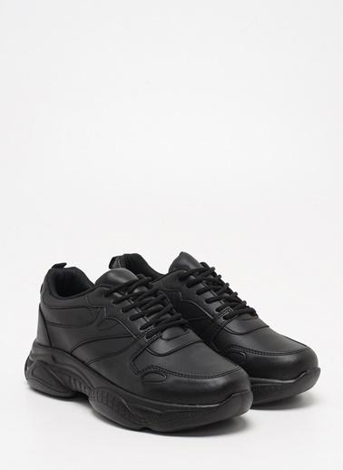 F By Fabrika Kadın Bej Sneakers POLA Siyah